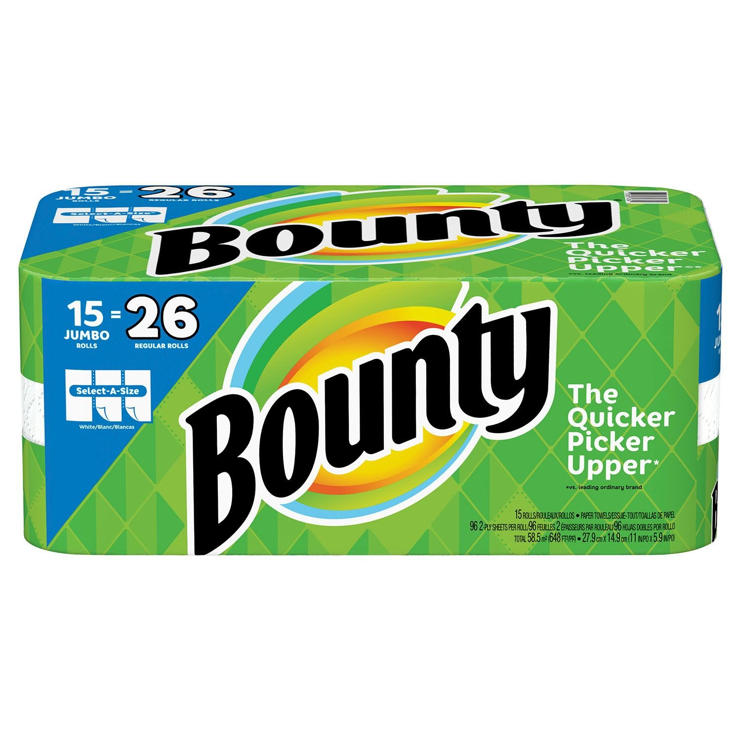 Bounty Select-a-Size ペーパータオル ホワイト 15ジャンボロール B07J3W9S7L