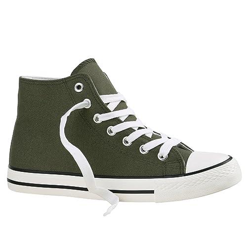 Botas Flandell Stiefelparadies, zapatillas unisex, tallas grandes, color Verde, talla 39 EU: Amazon.es: Zapatos y complementos