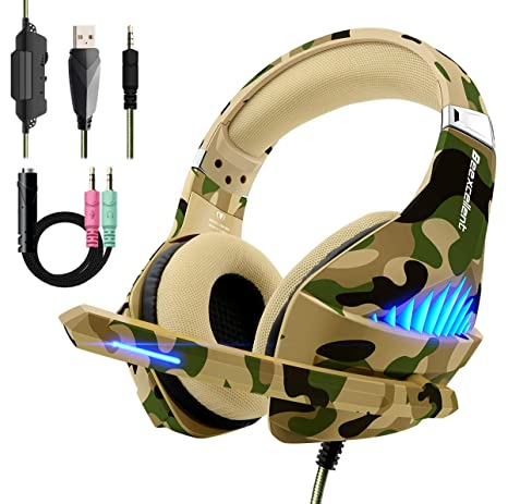 Beexcellent PS4 Xbox One Cuffie Gaming Stereo Deep Bass Noise Cancelling  Headset Auricolare Gioco con Microfono a66384d6a816