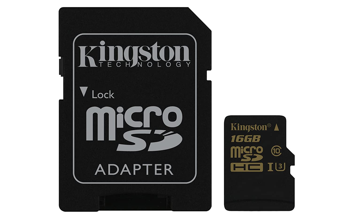 TALLA 16 GB. Kingston SDCG/16GB Gold Tarjeta de Memoria microSD de 16 GB con UHS-I Speed Class 3 (U3) y Adaptador SD
