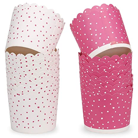 GIFBERA Muffin Cupcake 24Pcs Cajas de Papel Tazas de Hornear ...