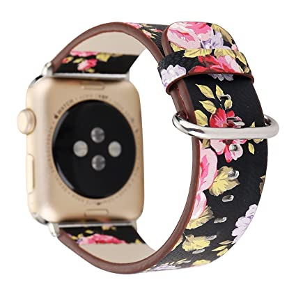 fc9830a4e2bc0 Amazon.com : WONMILLE Bands for Apple Watch Band 38mm 42mm, Leather ...