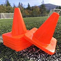 """Heavy & Tough Cones - Won't Fly Away in Wind or Crack/Break - 6"""" Size - LVL10 Pro Training Cones"""