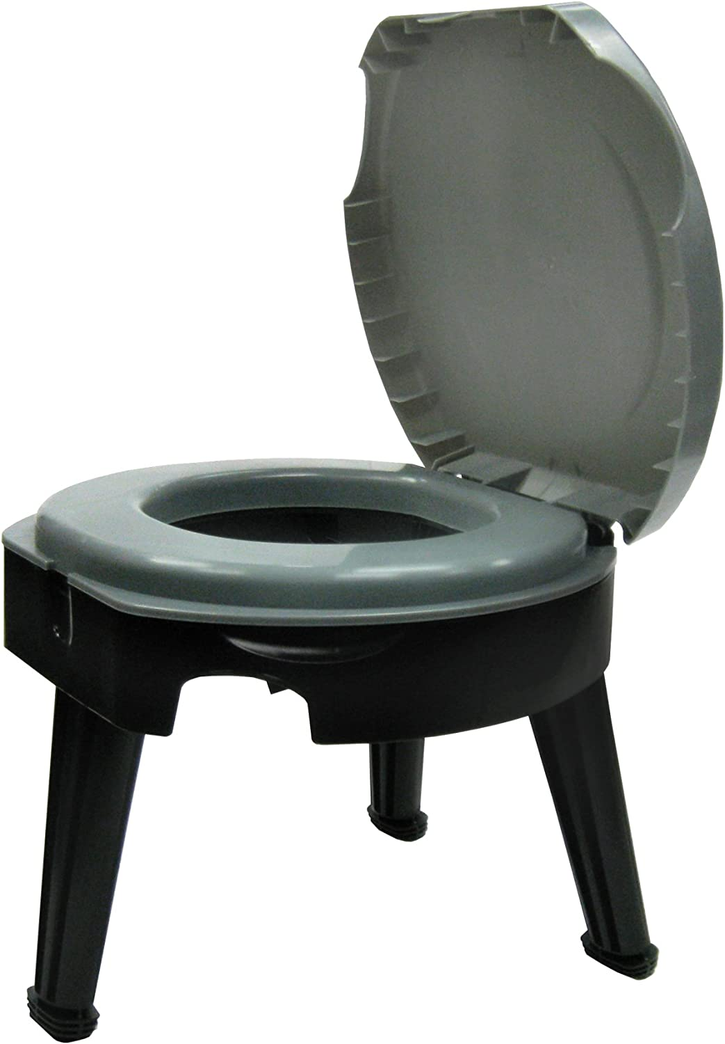 """Reliance Products Fold-to-Go Collapsible Portable Toilet, 9824-21W, Gray/Black, 14.5""""x14.5""""x14.5"""" : Camping Sanitation Supplies : Sports & Outdoors"""