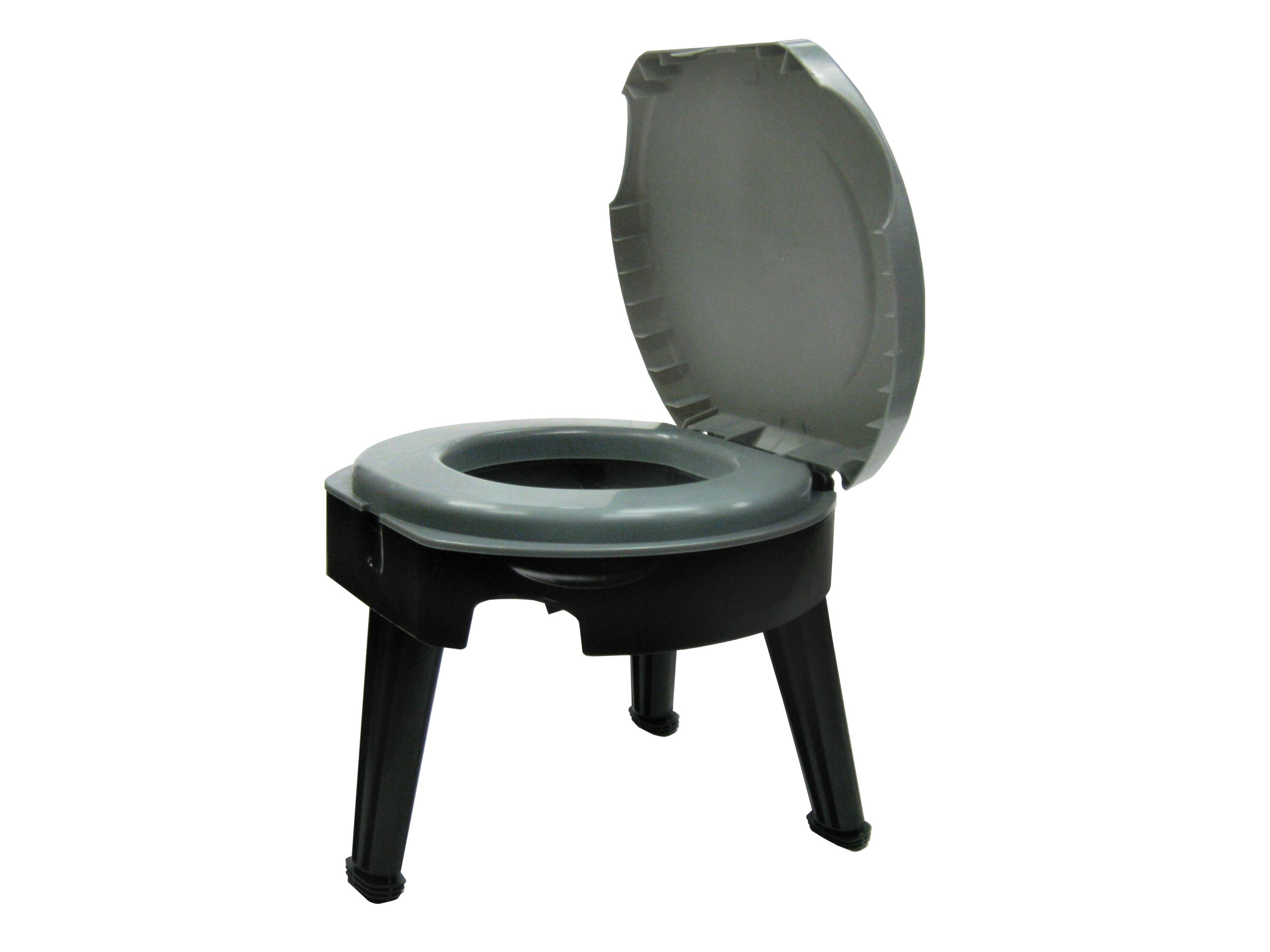 "Reliance Products Fold-to-Go Collapsible Portable Toilet, 9824-21W, Gray/Black, 14.5""x14.5""x14.5"""