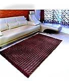 "Home Elite Floral Floral Microfibre Anti-Allergic Carpet - 55""x80"", Multicolour"