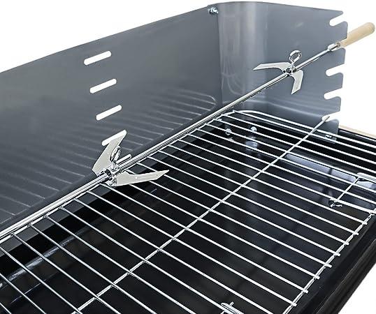 Deuba Barbecue mobile avec grille réglable avec roues et