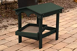 product image for DutchCrafters Poly Covered Ground Bird Feeder with Removable Tray Made in America (Turf Green)