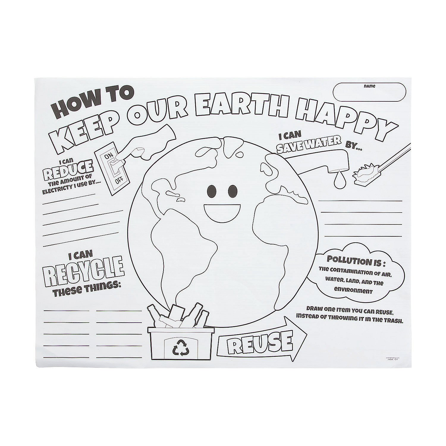 Amazon com color your own earth day posters health