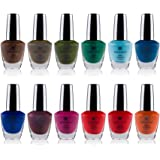 SHANY Cosmetics Nail Polish Set - 12 Bold and Quirky Shades in Gorgeous Semi Glossy and Shimmery Finishes - Funky…
