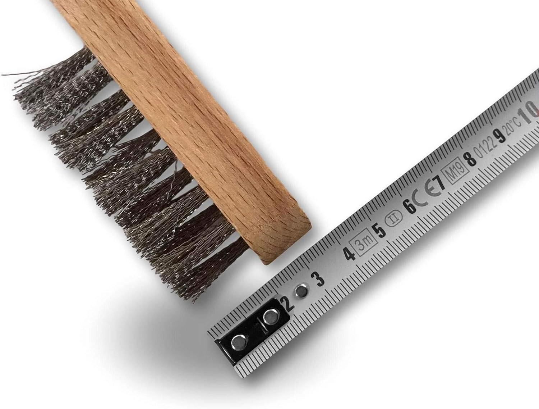 Garnissage inox 16 trous fil ondul/é Brosse m/étallique /à bougie Kibros 34IB Manche ergonomique bois