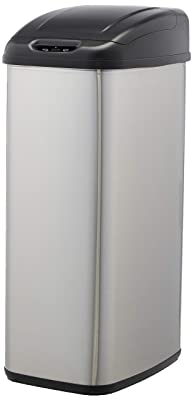 AmazonBasics Automatic Stainless-Steel Trash Can