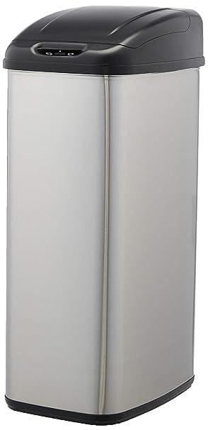 5 litros Cubo de basura autom/ático de acero inoxidable rectangular Basics