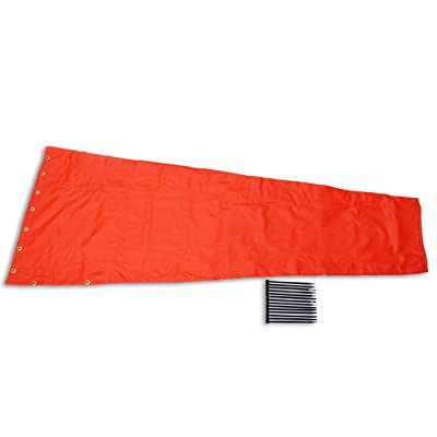 "Airport Windsock Corporation 18"" X 72"" Orange Replacement Windsock 100% USA Made : Garden & Outdoor"