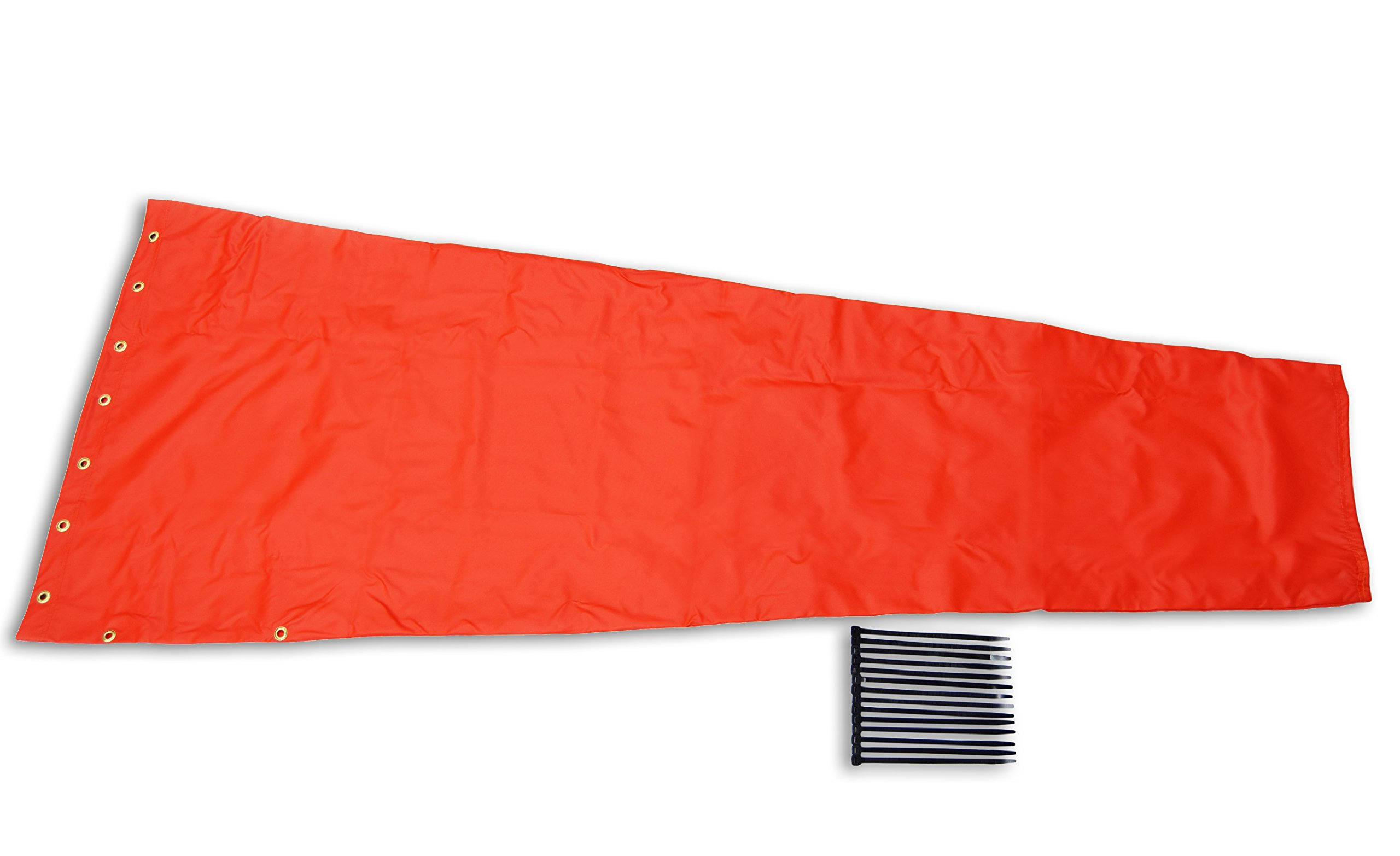 Airport Windsock Corporation 18'' X 96'' Orange Replacement Windsock 100% USA Made