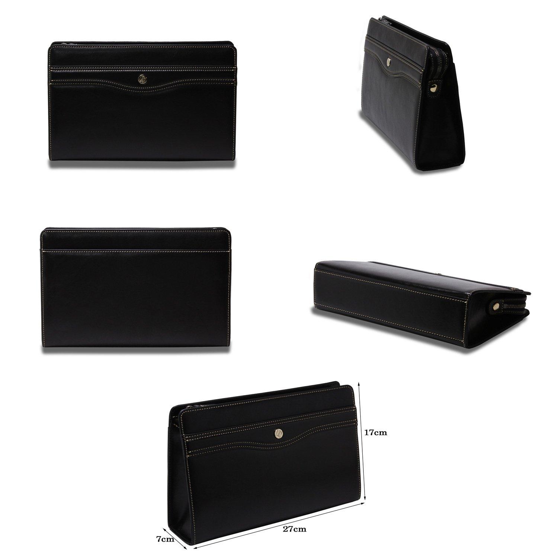 cb172da160e6 メイン素材: 牛革サイズ:27cm(W)×17cm(H)×7cm(D)  後面にマグネット式ポケットが1ヶ所?メイン収納は上部ファスナー式で1ヶ所メイン収納内側には携帯収納1ヶ所と ...