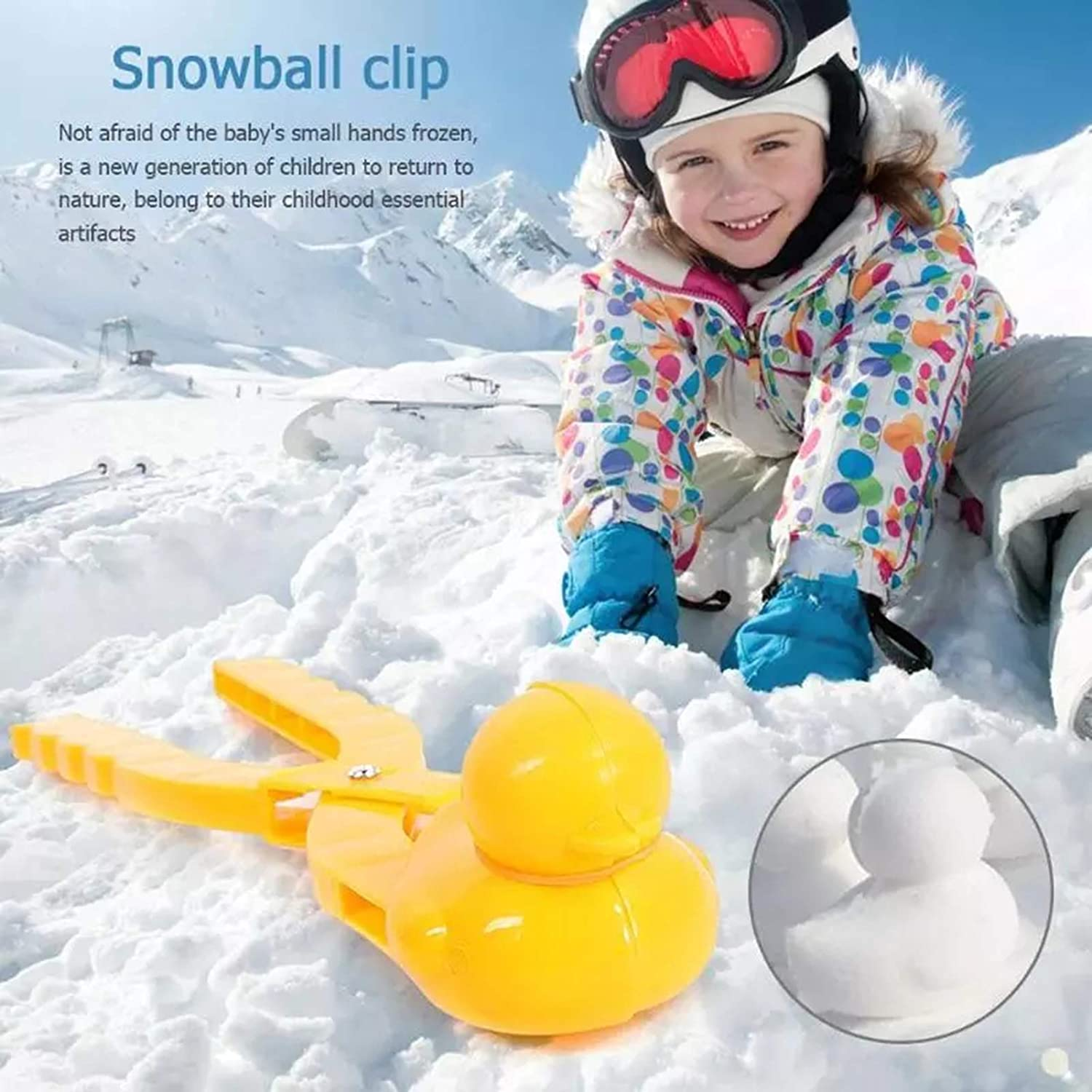 PKLMN Snowball Maker Snow Toys Snowball Maker Tool with Handle Winter Snow Toy for Kids and Adults Gift for Children Kids and Adults