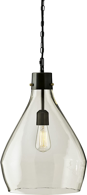 Signature Design by Ashley L000468 Emilano Pendant Light, Black/Natural