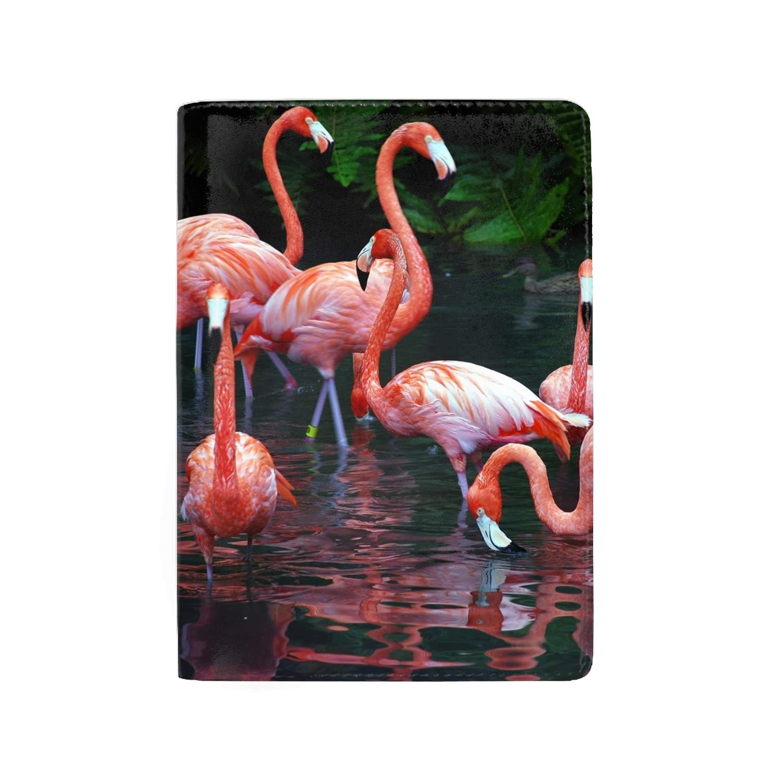Bamboo And Birds Protective Premium Leather RFID Blocking Wallet Case for Passport Passport Holder Case