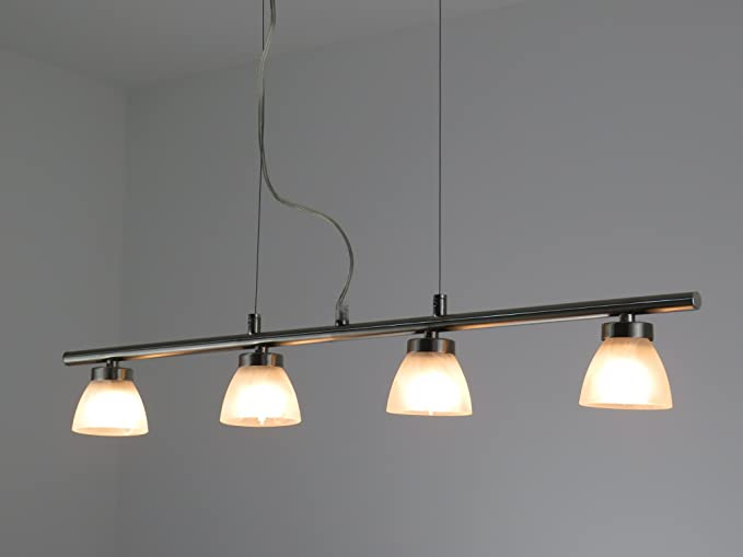 449/D4 ALABASTRO Lampadario moderno acciaio nikel lampada ...