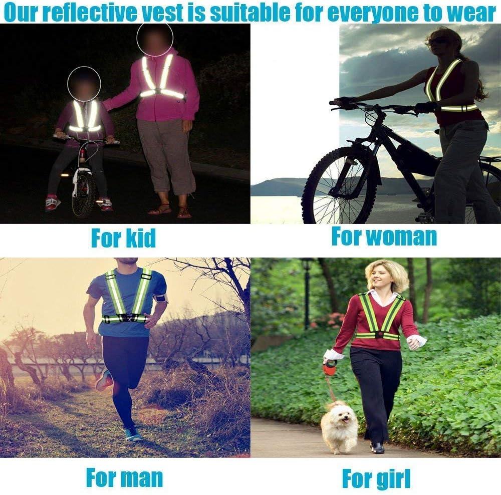 Hospaop 2 St/ück Reflektorweste Einstellbar Warnweste Sicherheitsweste Reflektierende Signalweste f/ür Erwachsene//Kinder,Laufen,Joggen Fahrrad Wandern Laufen Motorrad f/ür Erwachsene /& Jugendliche