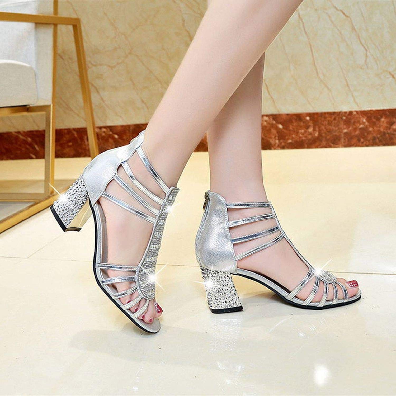 Casual Fish Mouth Sandal Square Heels Zip Sandal Sandals Women Sandals high Heels