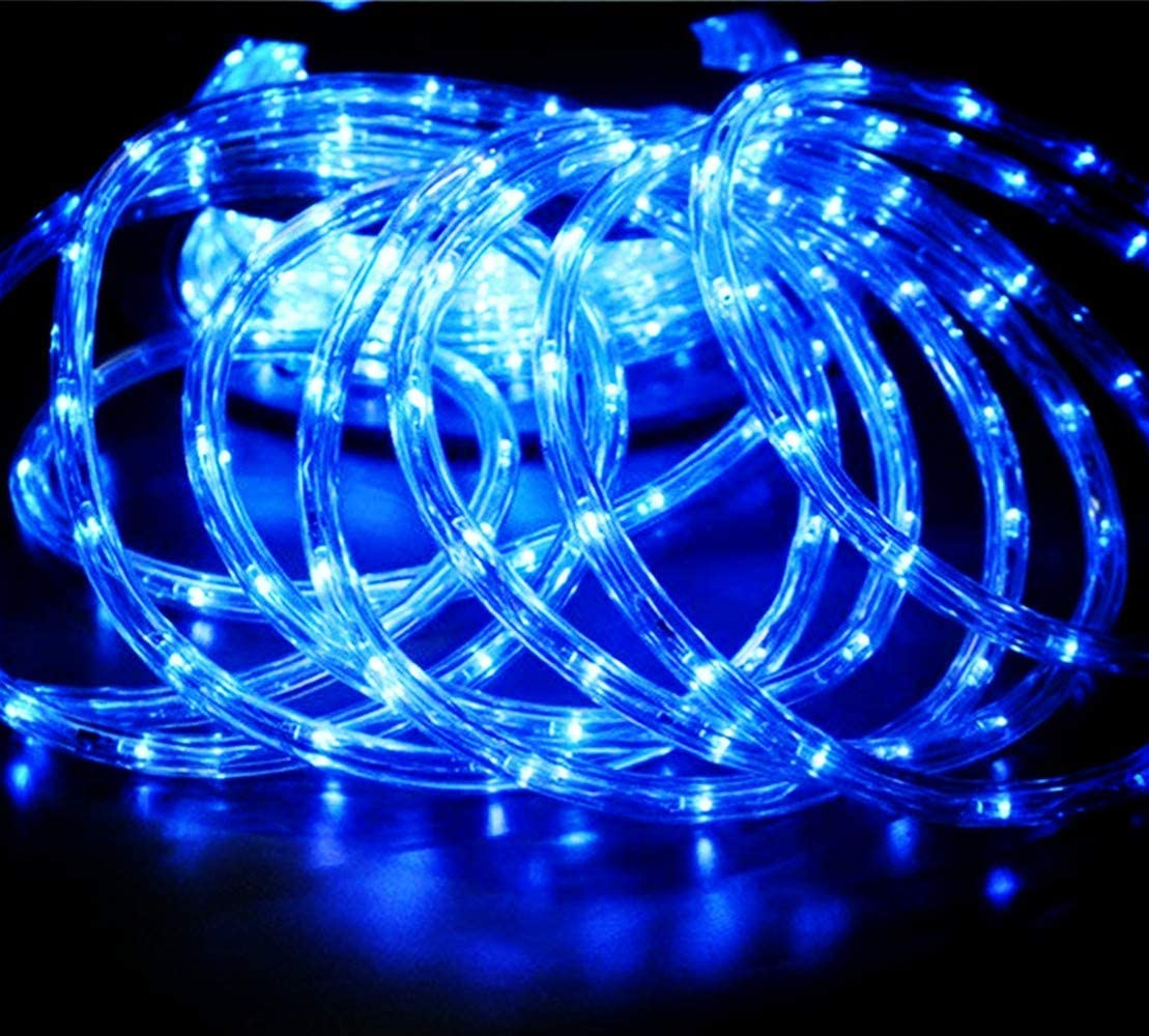 Qulaten LED Rope Lights 120V Waterproof Connectable Led Strip Lights for Indoor Outdoor Rope Lights Waterproof Decorative Lighting Backyards Garden and Party Decoration 150ft//45m, White