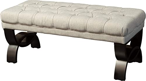 Christopher Knight Home Scarlett Tufted Fabric Ottoman / Bench