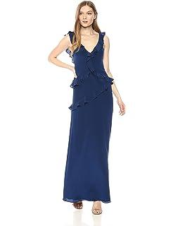 e31f72b29943 Amanda Uprichard Women s Christiana Ruffle Gown Formal Night Out Dress