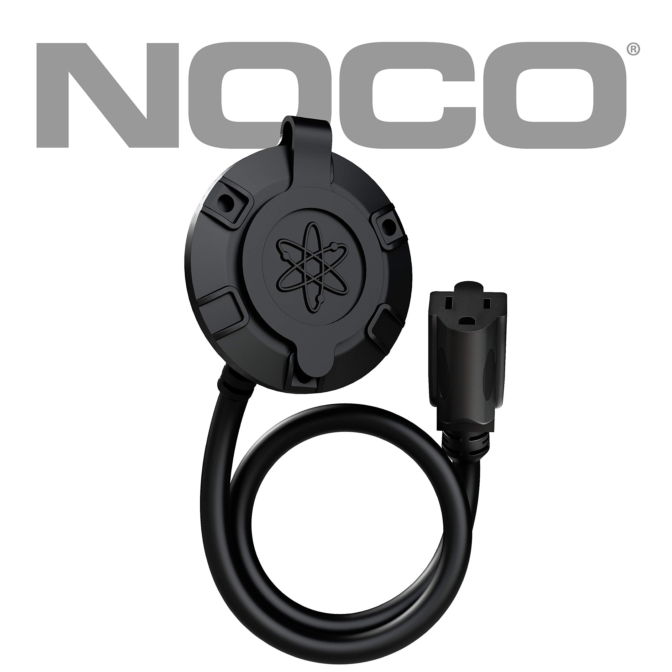 NOCO GCP1 13 Amp 125V AC Port Plug with 16-Inch Integrated Extension Cord by NOCO