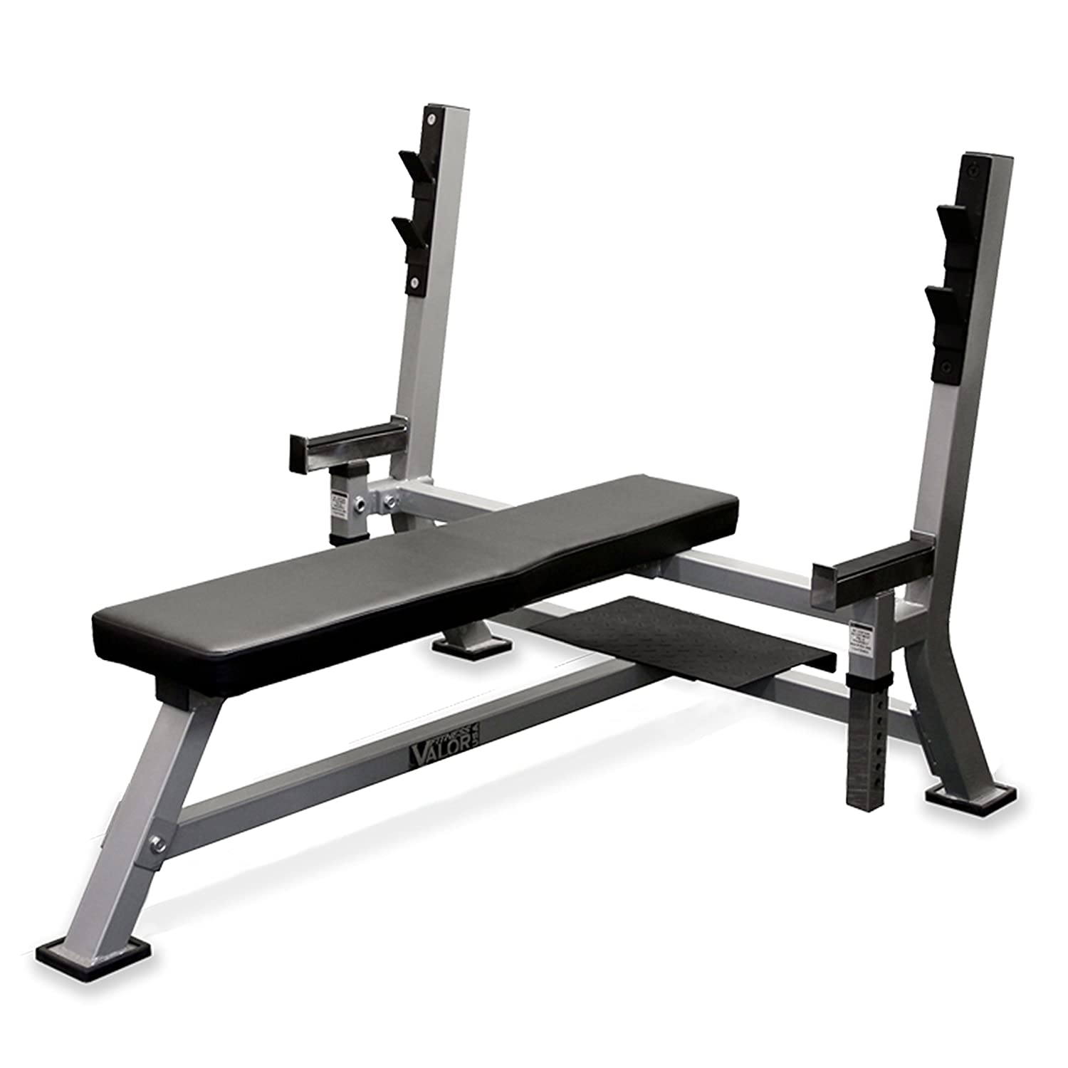 Valor Fitness BF-48 Olympic Bench Station with Adjustable Safety Catches and Spotter Stand
