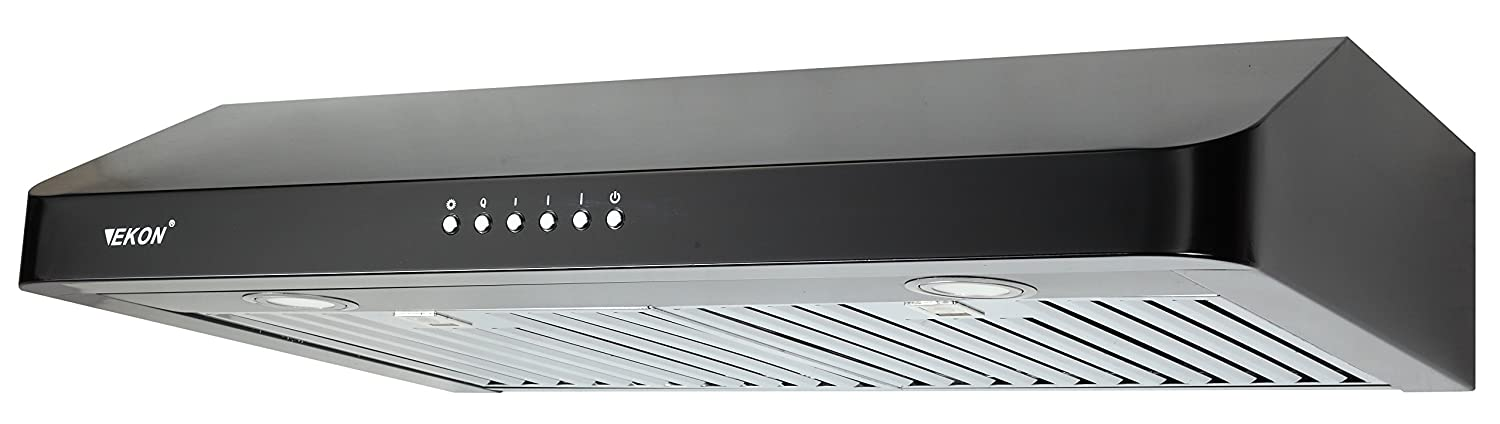 EKON NAC01-36'-T-R Super Slim Under Cabinet/Wall Mounted Kitchen Range Hood / 4 Speed Touch Control LCD Display Switch With Remote Control / 2 Pcs 3W Led Lamp /600 CFM (stainless steel, 36')