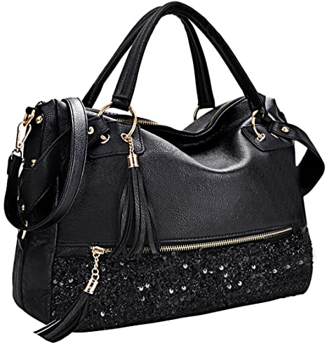 a43ccea655 Black Leather Handbags