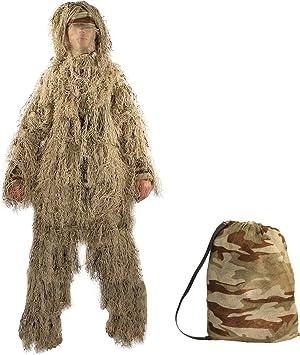 Amazon.com: targetevo caza ghillie desierto/Woodland ropa de ...