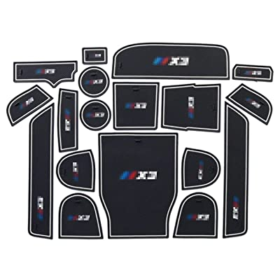 R RUIYA Compatible Car Slot Mats 2020 BMW X3 G01 Car Accessory Interior Door Mat Cup Mat Center Console Organizer Storage Box (Slot Mats White): Automotive