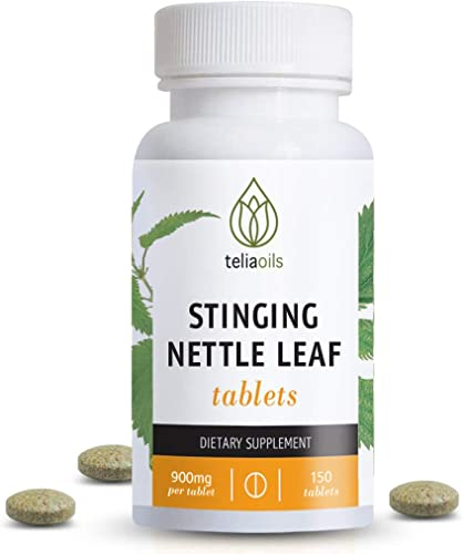 Teliaoils Stinging Nettle Leaf Tablets 150 Capsules 900mg Wild Harvest Nettle Extract Per Tablet Organic Herbal Supplement Supports Healthy Histamine Levels Respiratory Health