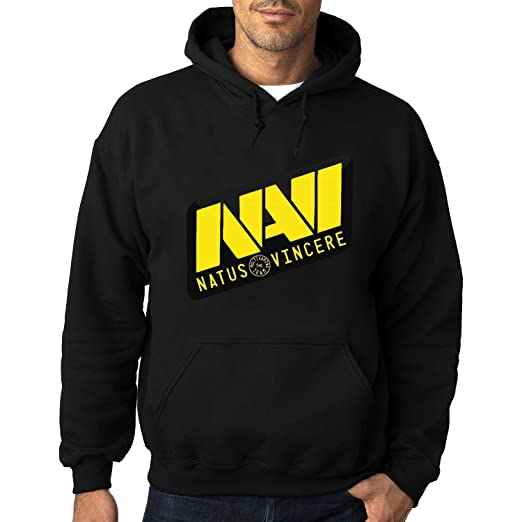 31a35d2b9a2a Men Navi Natus Vincere eSport Fleece Hoodie Pullover Hooded Sweater Black  at Amazon Men s Clothing store