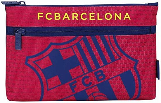Futbol Club Barcelona - Estuche portatodo Grande 2 Cremalleras (SAFTA 811572033): Amazon.es: Juguetes y juegos
