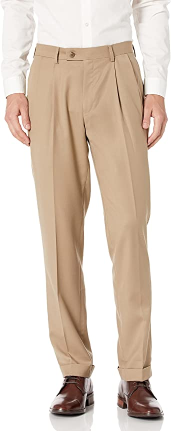 Louis Raphael Mens Big-Tall Luxe 100/% Wool Extension Dress Pant