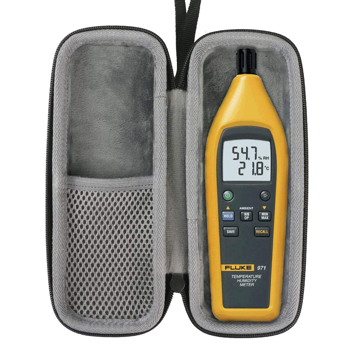 Co2Crea Hard Travel Case for Fluke 971 Temperature Humidity Meter by co2crea