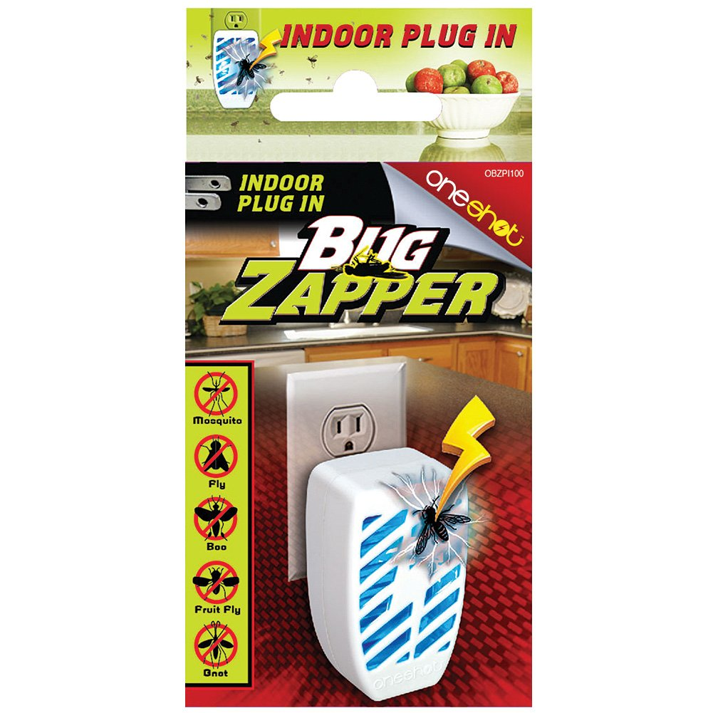 Indoor Outlet Plug-in Mini Bug Zapper - Kill Gnats, Fruit Flies & Mosquitoes