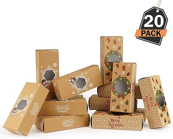 20 Cajas de Regalo para Navidad – Cajas Kfraft para Pasteles ...