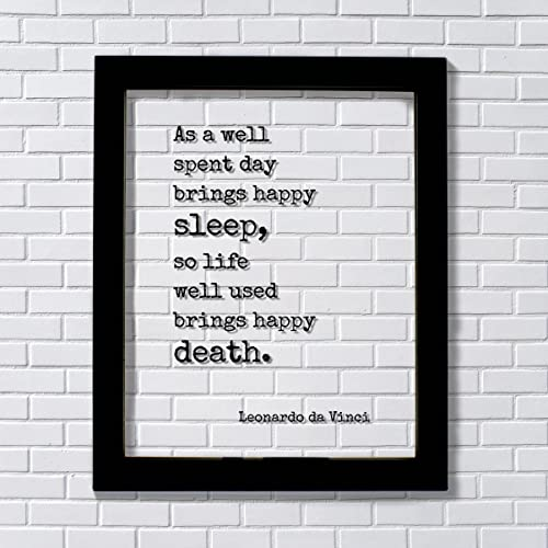 Amazoncom Leonardo Da Vinci Floating Quote As A Well Spent Day