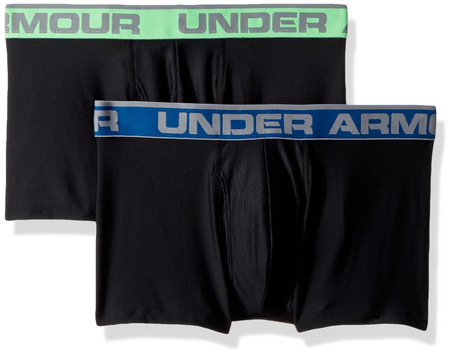 Under Armour Men's O-Series 3in Boxerjock (2 Pack), Black (001)/Black, X-Large by Under Armour