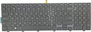 Replacement Keyboard for Dell Inspiron 15 3542 3543 3551 3552 5542 5545 5547 5755 5551 5558 5552 5758 5759 7557 7559 5559| 17 5000 5748 5749 5755 5758 5759 Series Laptop with Backlit