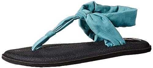 Sanuk Yoga Sling Ella, Sandalia para Mujer, Azul Mineral, 42 ...