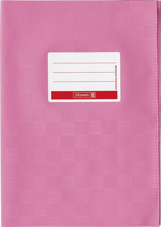 Brunnen 104052445 Hefthülle / Heftumschlag (A4, Folie, mit Namensschild) rosa