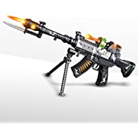 "ArtCreativity Special Forces Toy Machine Gun with LEDs, Sound & Bayonet | 22"" Kids' Light Up Military Assault Rifle 
