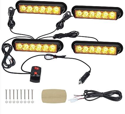 LED VEHICLE GRILL LIGHT AMBER 12V-24V