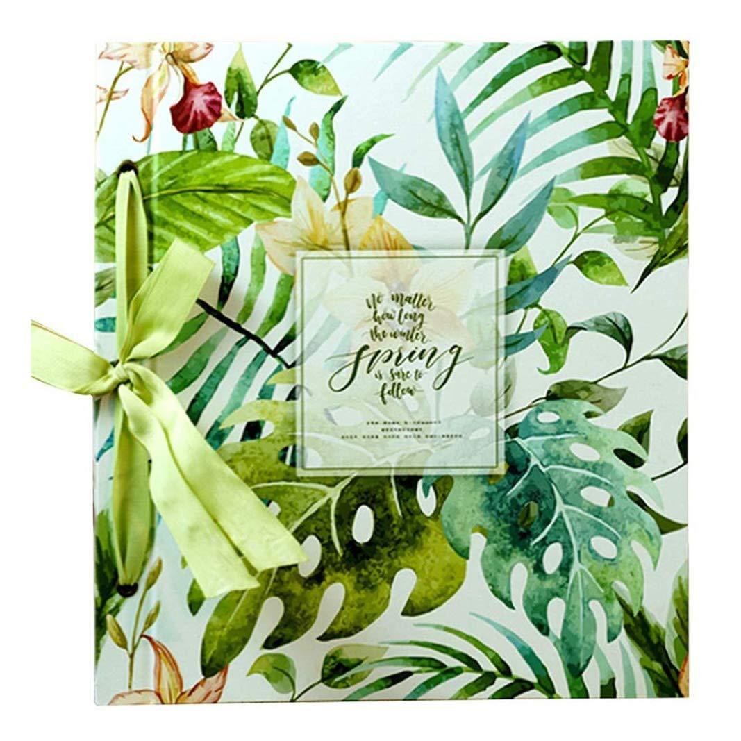 Trjyr Photo Albums - 1000 Sheets 6X4(4R) Interstitial PU Retro Photo Album, Large-Capacity Home Wedding Baby Grow Memorial Book (Color : #003) by Trjyr Photo Albums